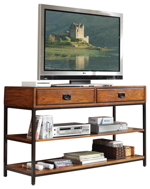 HomeStyles TV Stand, Distressed Oak