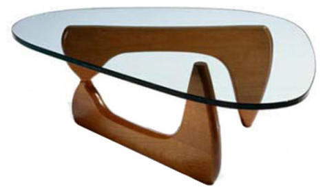 Tribeca Coffee Table By Lamoderno Mid Walnut Solid Wood Base