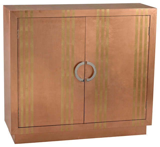 Shop Houzz | ELK Group International Gold Stripe Copper Cabinet - Accent Chests And Cabinets