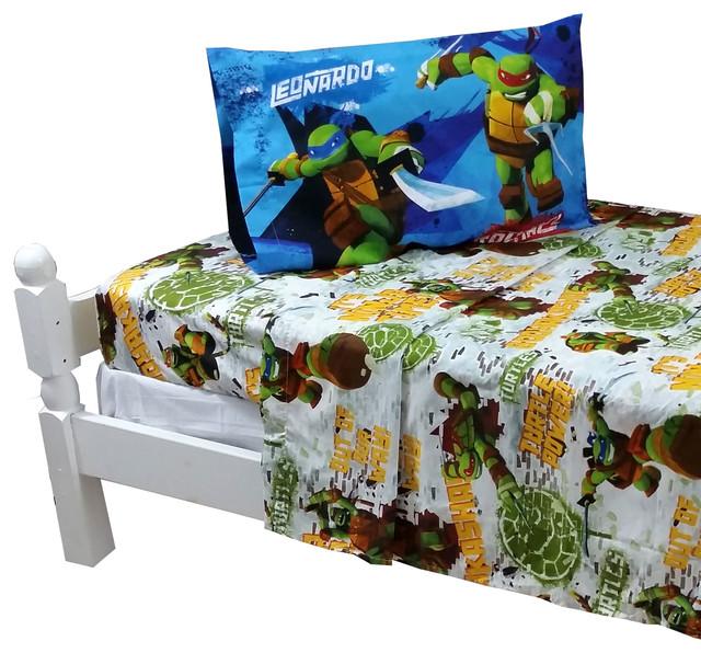 Teenage Mutant Ninja Turtles Sheets Tmnt Turtle Power Bed Contemporary Kids Bedding By