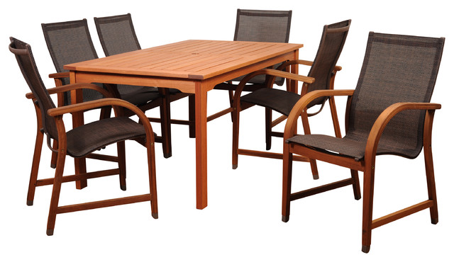Amazonia Bahamas 7 Piece Dining Set Contemporary Outdoor Dining Sets