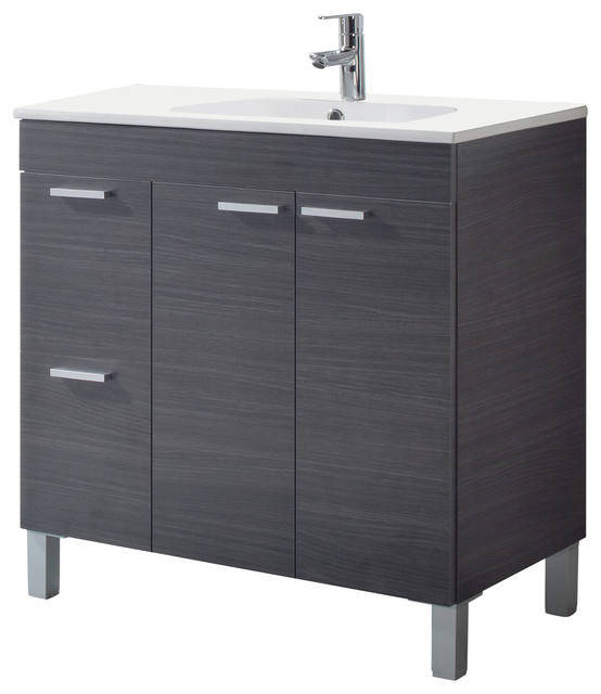 Aktiva 80 Bathroom Vanity Unit, Ash Grey