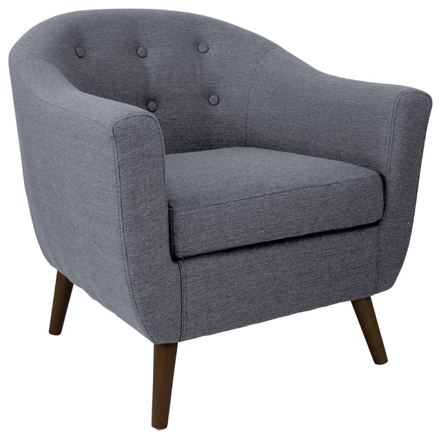 Rockwell Accent Chair, Charcoal Gray Midcentury Armchairs And Accent Chairs