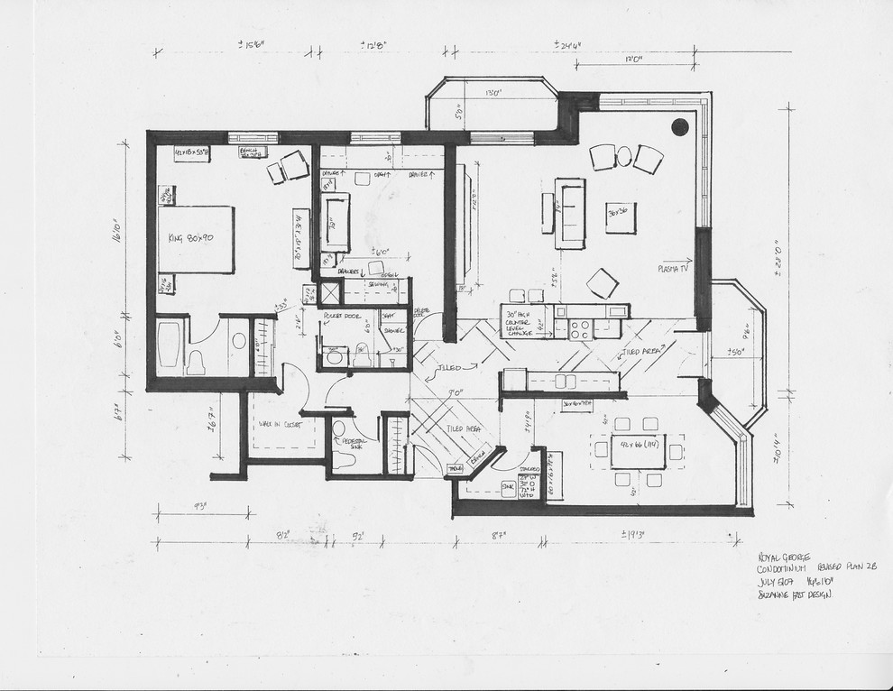 residential space plans- Kingston waterfront condominium space plan