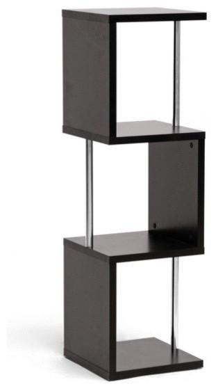 Merveilleux Baxton Studio Lindy Dark Brown Modern Display Shelf (3, Tier