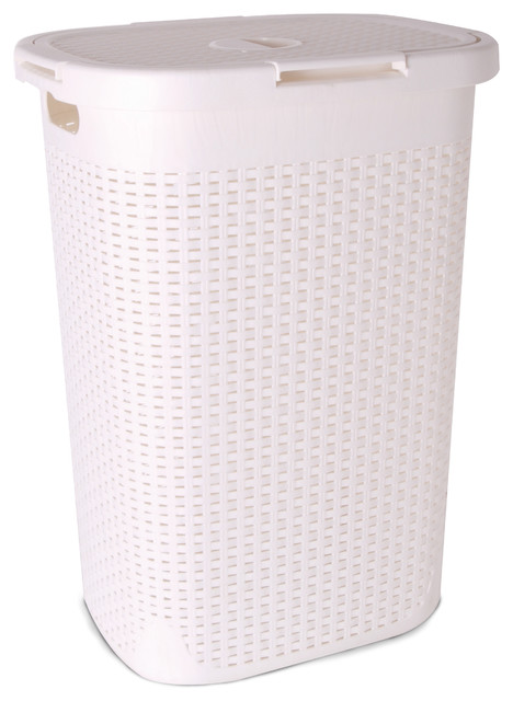 superio brand palm luxe laundry hamper bushel view in your room houzz. Black Bedroom Furniture Sets. Home Design Ideas