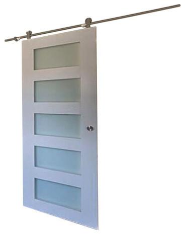 5 panel glass design sliding barn door special walnut 36 for Special door design