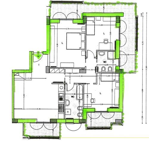 arredare open space con cucina e soggiorno