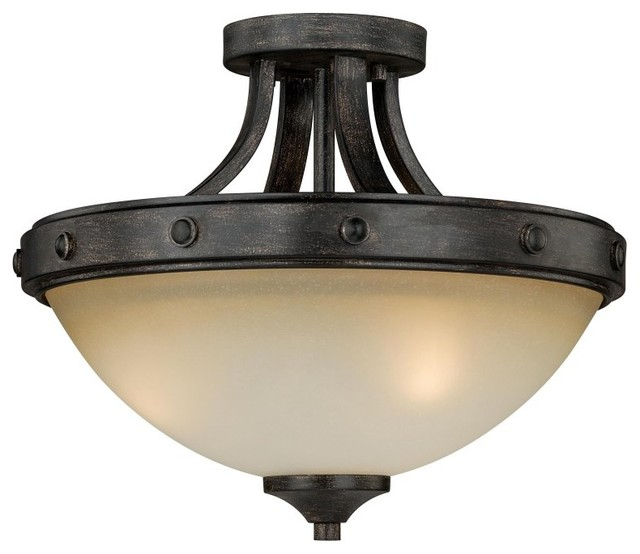 Halifax 2-Light Semi-Flush Mount.
