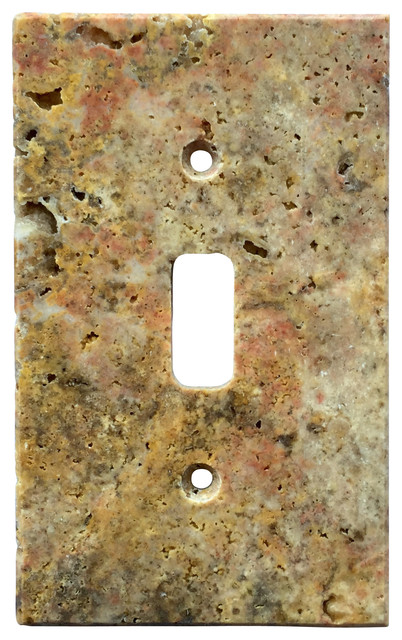Scabos Travertine Switch Plate Cover Toggle 2 75 Quot X4 5