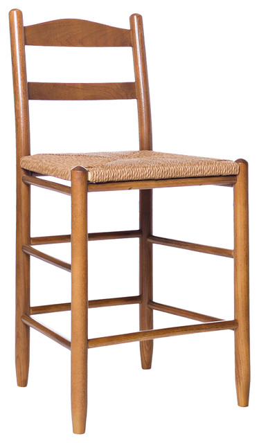 24 Quot Ladderback Barstool Traditional Bar Stools And