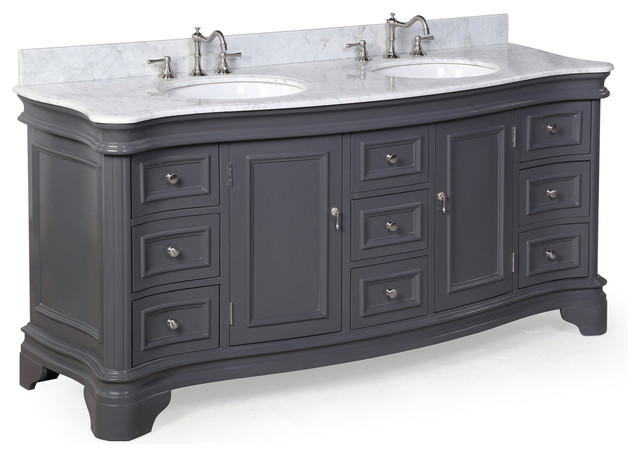 Katherine Double Vanity With Carrara Top Traditional