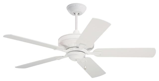 Bella Indoor Ceiling Fan, Satin White.