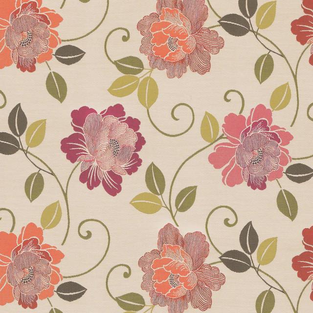 Wildflower Beige Pink Floral Contemporary Woven Indoor