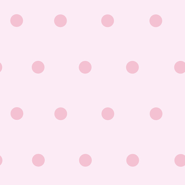 Kenley Pink Polka Dots Wallpaper Swatch