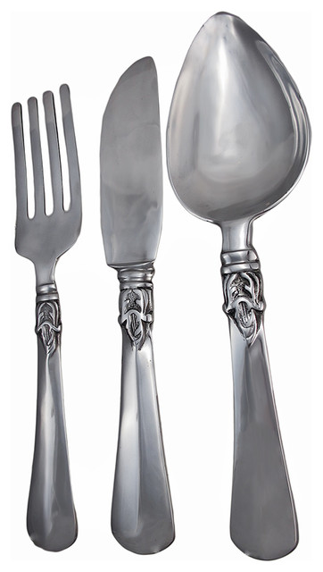 Cast Aluminum Knife Fork and Spoon Wall Art 23\
