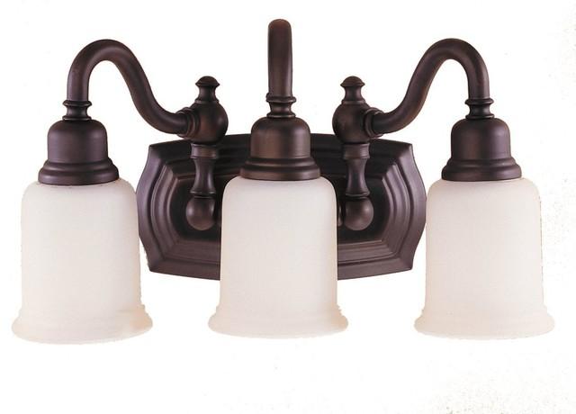 Feiss Canterbury 3 Light Vanity Fixture Oil Rubbed Bronze: 3- Light Vanity Fixture
