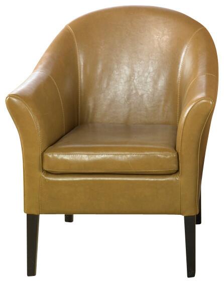 Merveilleux Camel Leather Club Chair
