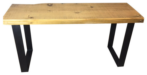 Reclaimed Barn Wood Urban Bench, Endurovar Finish, 12x36x18, Antique Oak