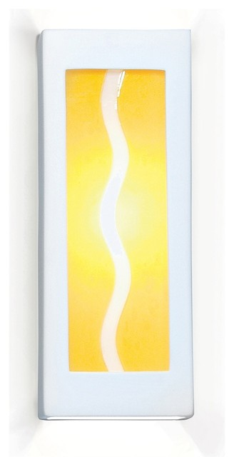Amber Wave Modern Yellow Wall Sconce - Contemporary - Wall Sconces - by The Elite Home