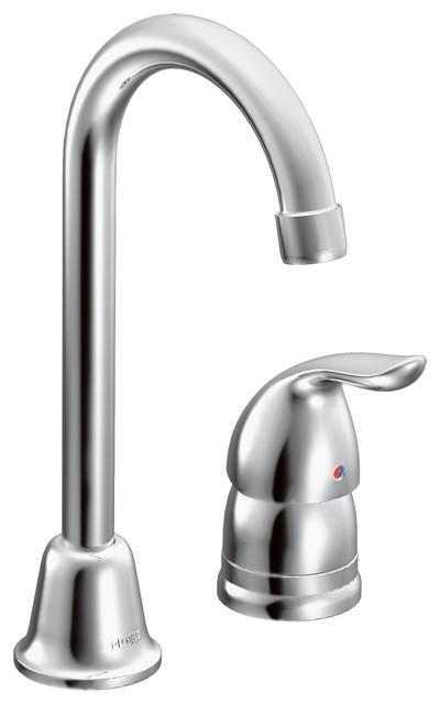 Moen Chateau Chrome 1-Handle High Arc Bar Faucet.