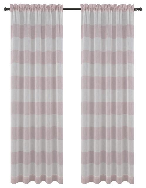 Urbanest Nassau Drapery Curtain Panels, Dusty Pink.