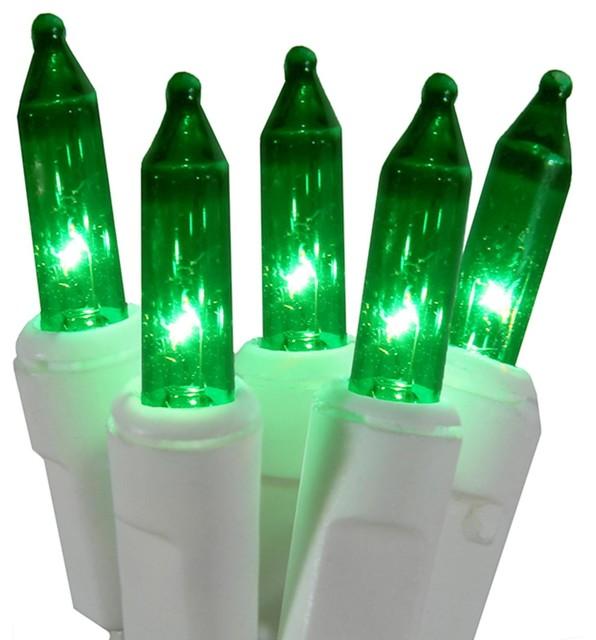 super mini christmas lights white wire green