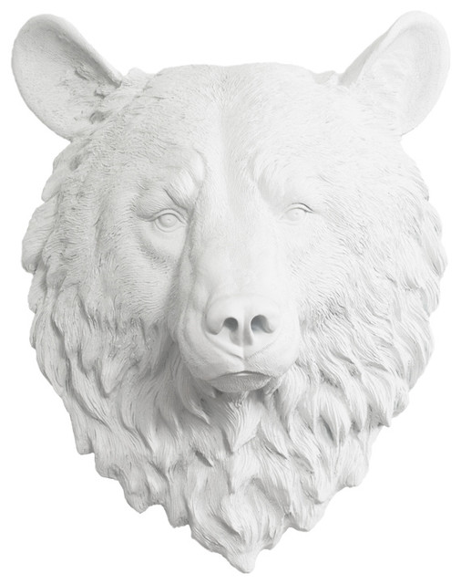 Wall Charmers Resin Fake Bear Head Mount Modern Sculptures By