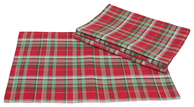 Holiday Tartan Christmas Christmas Placemats 13 Quot X19 Quot Set
