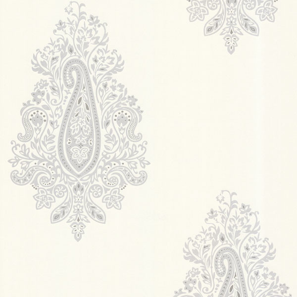 Dynasty Light Gray Paisley Wallpaper Contemporary By Brewster Home Fashions