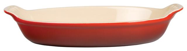 Le Creuset Heritage Stoneware Petite Au Gratin Dish, 6oz., Cherry