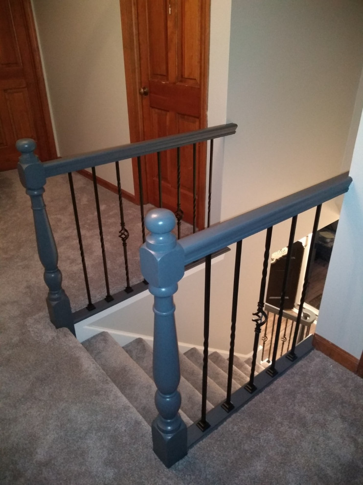 Modernized stairs - contemporary gray