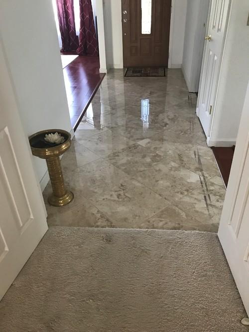 porcelain tile or laminate in family room