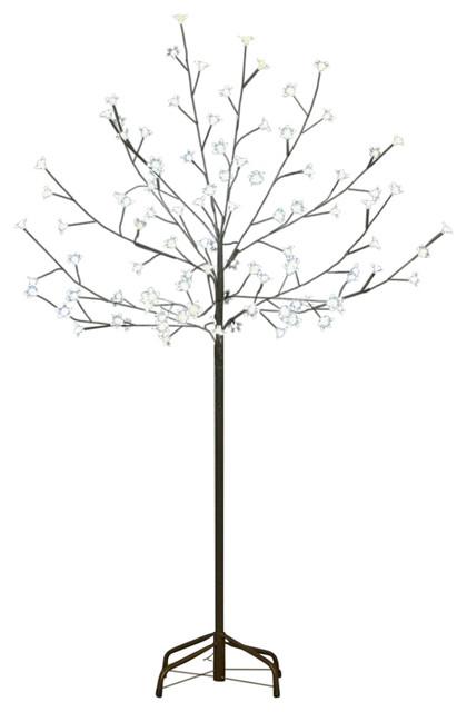 6' LED Lighted Cherry Blossom Flower Tree, Lights, Warm White