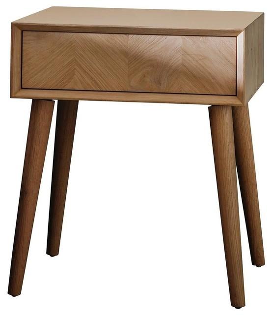 Milano Oak Bedside Table
