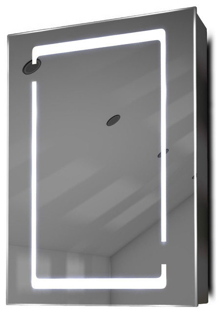 Large Demister Medicine Cabinet With Led Square Border, Without Speakers.