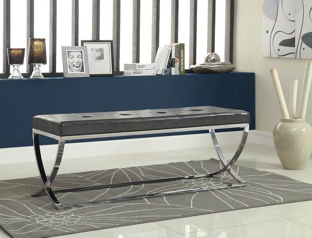 Coaster Bench, Black Finish 501156.