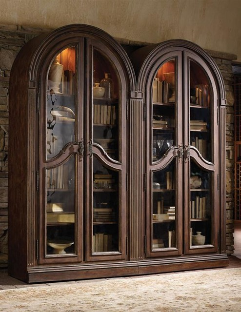 Edwardian Arch Curio Cabinets - Victorian - Bookcases ...