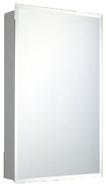 """Deluxe Series Medicine Cabinet, 16""""x26"""", Beveled Edge, Surface Mounted"""