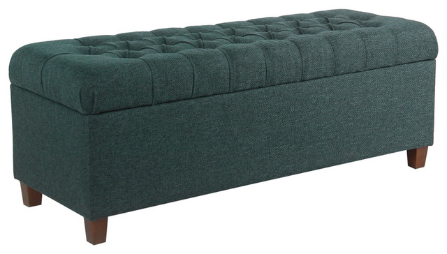 Strange Fabric Upholstered Wooden Bench With Button Tufted Lift Top Storage Blue Pdpeps Interior Chair Design Pdpepsorg