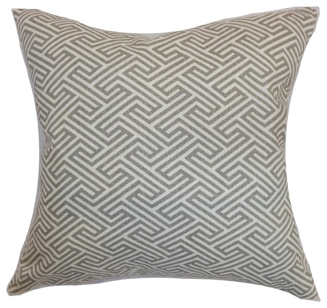 Wondrous Graz Geometric Pillow Dove 20X20 Gmtry Best Dining Table And Chair Ideas Images Gmtryco