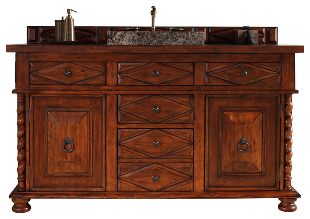 Popular InFurniture Solid Wood 36quot Traditional Single Sink Bathroom Vanity