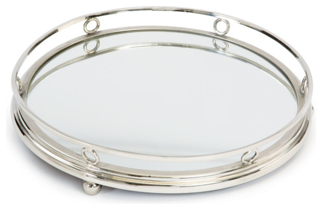 GO HOME LTD Geometric Round Bar Tray Serving Trays Houzz