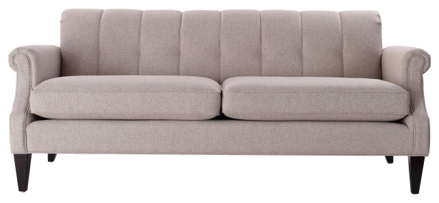 Giotto Channel Tufted Roll Arm Sofa