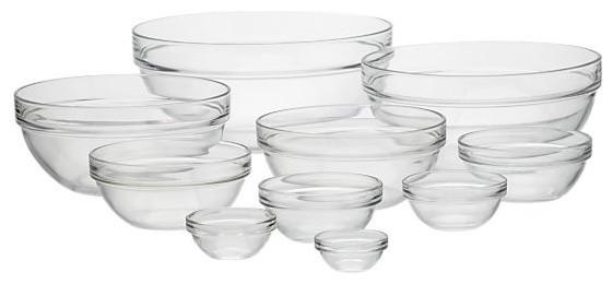 10-Piece Glass Bowl Set