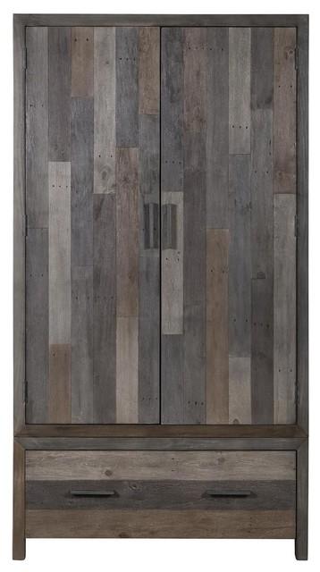 London Reclaimed Pine 2-Door Wardrobe