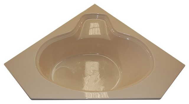 American Acrylic and Injection Corner Air Jet Tub, Biscuit ...