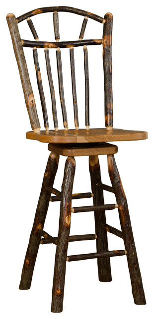Pleasing Rustic Hickory Swivel Wagon Wheel Bar Stool Without Arms Pdpeps Interior Chair Design Pdpepsorg