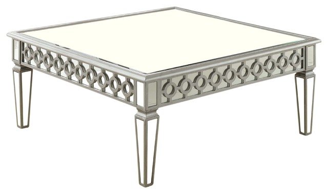 Delicieux Sophie Silver Mirrored Square Coffee Table