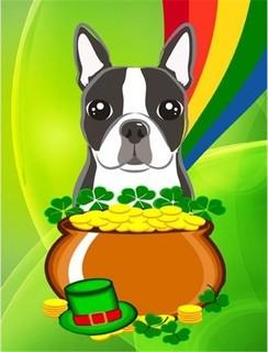 best carolines treasures boston terrier st patricks day canvas house flag reviews - Boston Terrier Outdoor Christmas Decoration